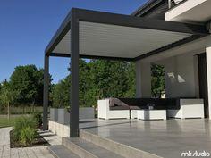 Znalezione obrazy dla zapytania projekt tarasu zadaszonego Home Upgrades, Outdoor Decor, Concrete, House, Home, Outdoor Space, Patio Design, Balcony