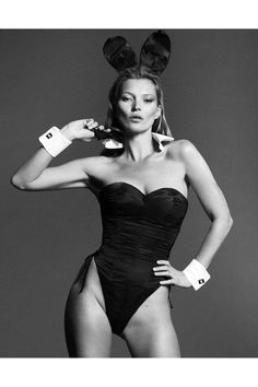 Playboy reveals another shot from inside the magazine's Kate Moss editorial, set to be unveiled this week.