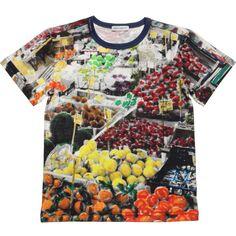 DOLCE & GABBANA Boys Cotton 'Market' T-Shirt