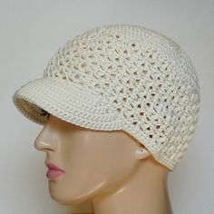 Everyone loves a cute newsboy cap….so this gorgeous free newsboy cap crochet pattern made with cotton yarn is sure to be a hit this summer! The beautiful texture and the option to make it with or without a brim really set this cute pattern apart. This pattern is designed to fit a Teen or XS Adult.