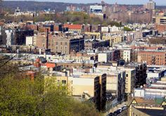 Looking across Inwood and Marble Hill, Manhattan.