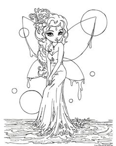 Print out Water Fairy coloring pages - Free Printable Coloring Pages For Kids. Fairy Coloring Pages, Colouring Pics, Free Coloring, Adult Coloring Pages, Coloring Pages For Kids, Coloring Books, Coloring Sheets, Kids Coloring, Colorful Drawings