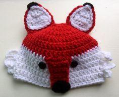 Red Fox Handmade Crochet Hat by AmysCraftingCorner1 on Etsy