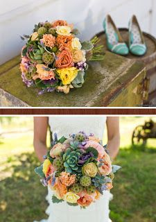 Love this succulent bouquet
