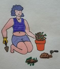 Gardening Girl by Ebony Mauer