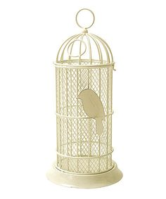 Love this White Wash Bird Cage Cork Holder by Boston Warehouse on #zulily! #zulilyfinds