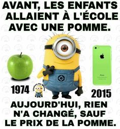 Qu'est-ce que sa change . Minion Jokes, Minions Quotes, Jokes Quotes, Funny Minion, Funny Jokes, Hilarious, Funny French, French Quotes, I Love To Laugh