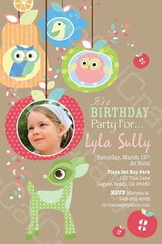 Pastel Woodland Owl Theme Photo Birthday Party by socalcrafty, $15.00
