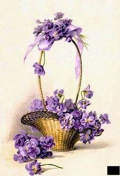 """Милые сердцу штучки: В ожидании весны: """"Фиалки"""" (коллекция схем):"""