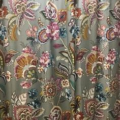 Our whimsical Ashford Shower Curtain gives a cheerful finishing touch to your bathroom. Coordinates with our Ashford curtains and bedding. Bathroom Rack, Floral Shower Curtains, Jacobean, Kitchen And Bath, Barn, Fabrics, Rugs, Home Decor, Floral Curtains