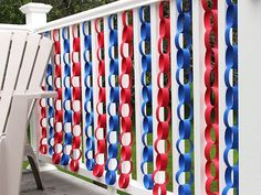 From DIY Network, fun idea for any holiday, indoors and out! Fourth Of July Decor, 4th Of July Celebration, 4th Of July Decorations, 4th Of July Party, Easy Decorations, Decoration Party, Garden Decorations, Birthday Decorations, Wedding Decorations
