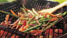 Fire up the grill! A garlic-pepper spice blend jump-starts the flavor in this great veggie combo.