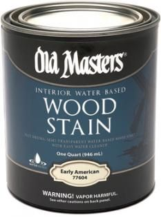 Water-Based Wood Stain | Old Masters Water Based Wood Stain, Wood Stain Colors, Popular Colors, American Walnut, Wood Surface, Paint Stain, Semi Transparent, Comfort Zone, Coffee Cans
