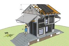 solar greenhouse/guest house