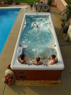 Michaelphelps swim spas are easy to maintain, unlike above ground swimming pools and hot tubs, leaving more time for enjoying them.