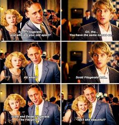 """Midnight in Paris :: Moment of """"Dear Tom, you're so cute we won't ask why you didn't have a dialect coach...because your American accent was kinda bad."""""""