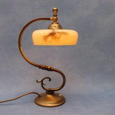 Vintage Shabby Chic Jugendstil Art Noveau Lamp Desk Lamp, Table Lamp, Shops, Vintage Shabby Chic, Etsy, Lighting, Home Decor, Art, Art Background