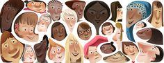 Google Doodle celebrating International Women's Day on 8 March 2013