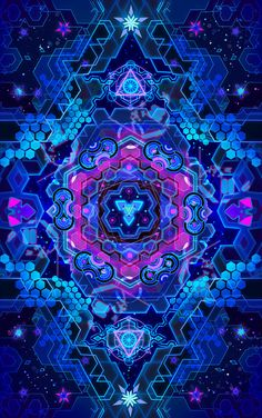 CORE PORTAL Art Psychedelic Art Print Visionary Art Digital