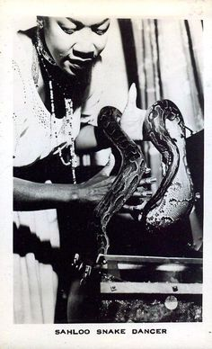 vintage everyday: 33 Amazing Vintage Photos of Female Circus Snake Charmers From the Early 20th Century