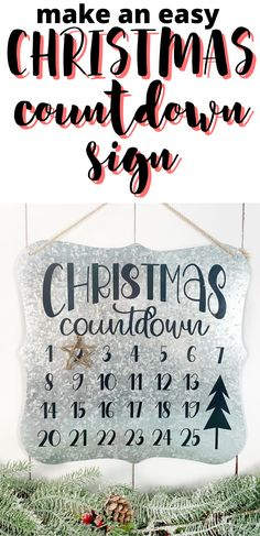 We all love to countdown the days until Christmas arrives.  Why not make the countdown easy with this cute magnetic countdown sign.  This is a quick and easy Christmas project to make with a Silhouette or Cricut cutting machine.  You can get the free SVG cut file from the blog so you can make your own Christmas countdown sign! Days Until Christmas, Simple Christmas, All Things Christmas, Christmas Time, Merry Christmas, Christmas Projects, Holiday Crafts, Holiday Decor, Trading Post