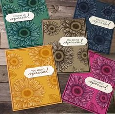 Sunflower Cards, Friendship Cards, Stamping Up, Greeting Cards Handmade, Stampin Up Cards, Birthday Cards, Daisy, Harvest, Card Making