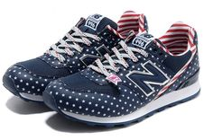 Authentic New Balance Stars And Stripes Blue Red WR996FN Women Shoes