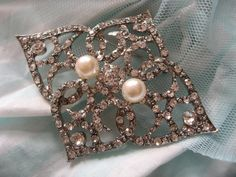 Precious moment Victorian pearls and rhinestone by weddingvalle, $16.99