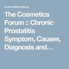 chronic prostatitis symptoms forum