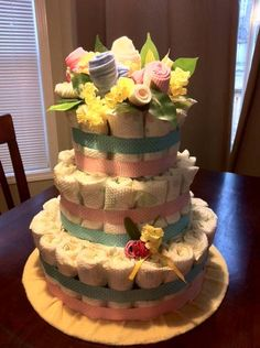 diaper cake for twins boy and girl
