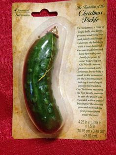 CHRISTMAS PICKLE TREE ORNAMENT  GERMANY TRADITION BRAND NEW!! Tree in Living Room.