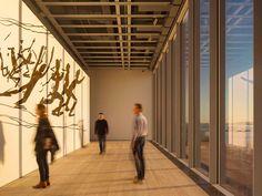 Salas de exposiciones en el museo Whitney