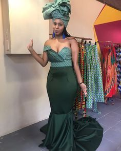 Colorful Shweshwe skirts ,classy and polished - Reny styles African Wedding Attire, African Attire, African Wear, African Women, African Dress, African Style, African Weddings, African Traditional Wedding, African Traditional Dresses