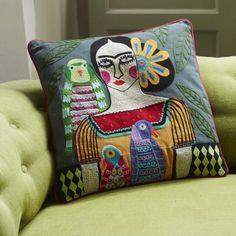 Appliquéd Character Cushions