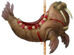 Historic Carousel & Museum, Albany, Oregon. Walrus carousel animal.. LOVE IT 111