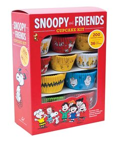Another great find on #zulily! Snoopy & Friends Cupcake Kit by Peanuts by Charles Schulz #zulilyfinds
