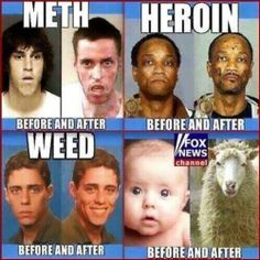 Before and after marijuana seems to be the better choice!