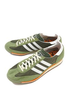 new concept bb912 83775 adidas Originals SL 72  Green Orange