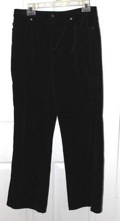 8c7ec642f0515 KATE HILL womens BLACK VELOUR JEANS PANTS - SIZE 10 PETITE - 10P - MINT  COND  fashion  clothing  shoes  accessories  womensclothing  pants (ebay  link)