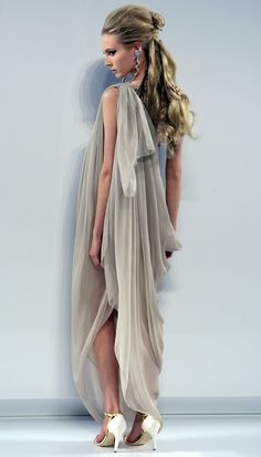 -Chanel, Haute Couture..love the grecian look - more silvery grey, or other…