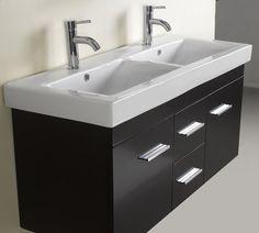 2 Sink Bathroom Vanity photo of top view - antique bathroom vanity: black shabby chic