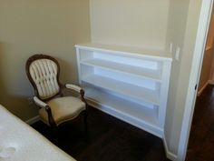 3 shelve bookcase Custom fit to wall Satin...Swiss coffee Pre cat lacquer