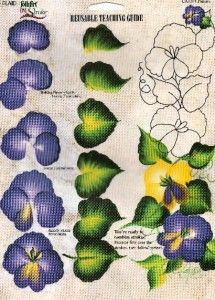 Donna Dewberry Reusable Teaching Guide RTG Pansies | eBay