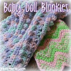 Baby Doll Blankets {Crochet Patterns} - Mom On Timeout