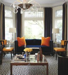bold color combo - blue and orange