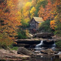 Follow @ourplanetdaily for more stunning travel & adventure images! Grist Mill, West Virginia in the Autumn. photo by: @porbital #earthfocus #instafollow #light #nature #tagforlikes