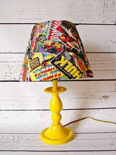 29 Geek DIY's To Make Right Now Comic Book Lamp This link also has other DIY options if you scroll up and down(geeky/nerdy DIY)