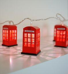 British telephone booth lightings
