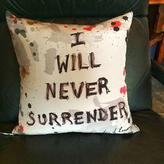 Some English spirit on a bold throw pillow from Grace and Favor.