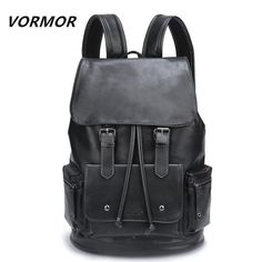 Waterproof Large Capacity 14 Laptop Backpack Male Leather Backpack Mochila Masculina Black/Brown Nylon Anti-theft Water-resistant Backpack, with stylish and chic design, goes well with any occasions, you will feel comfortable to carry it. Cool Backpacks For Men, Cute Backpacks, Girl Backpacks, Elite Backpack, Backpack Brands, Travel Backpack, Black Backpack, Leather Backpack, Givenchy